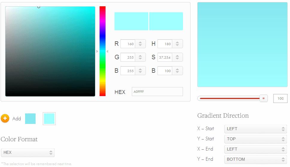 CSS3 Factory - CSS3 Gradient Generator