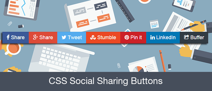 css-social-sharing-buttons
