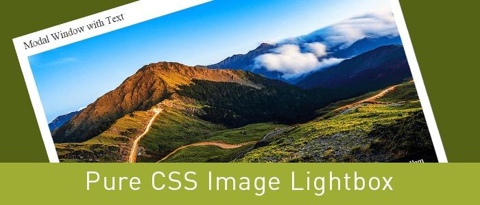 Pure CSS Image Lightbox