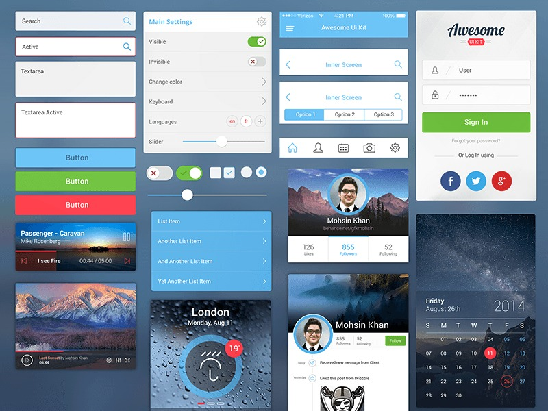 1671371-Awesome-UI-Kit-for-Mobile