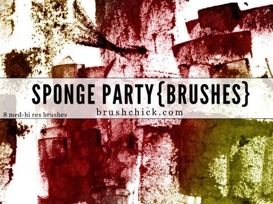 Sponge Party Brush
