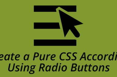 Create a Pure CSS Accordion Using Radio Buttons large