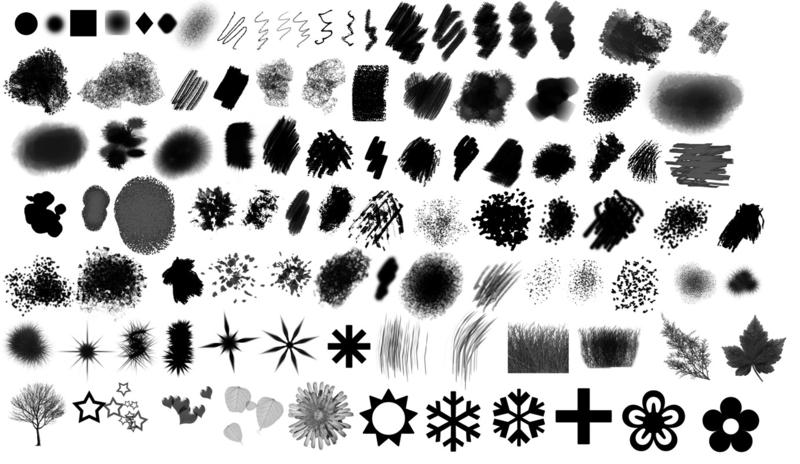 Hi Def Replacement Default Photoshop Brush Set