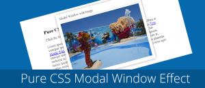 pure css modal window effect