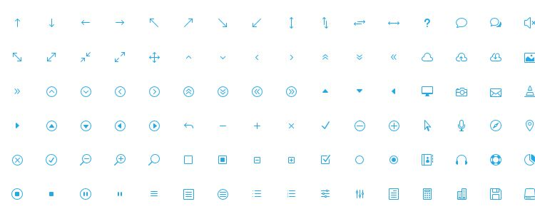 The Elegant Icon Font