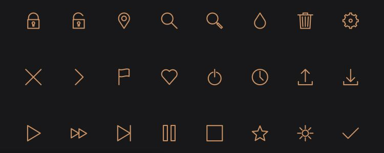 Icon Pack – A Line-Styled Icon Font from Petras Nargela