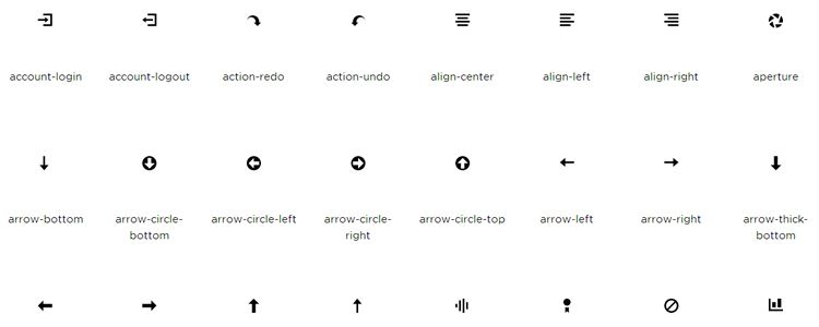 Open Iconic – A Highly Legible Icon Font