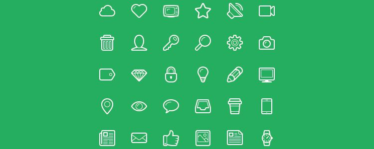 Linecons Free - Free Line-Styled Icons