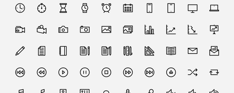 Outlined Icons by Dario Ferrando