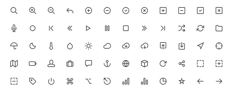Feather Icon Set – A Beautifully Simple Icon Font