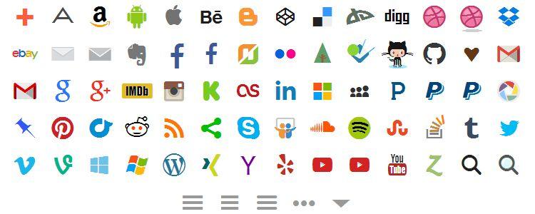 Socialicious – A Social Media Icon Library