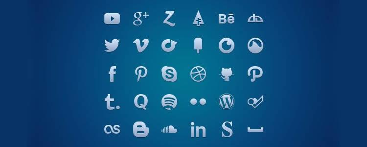 Social Media Glyph Set