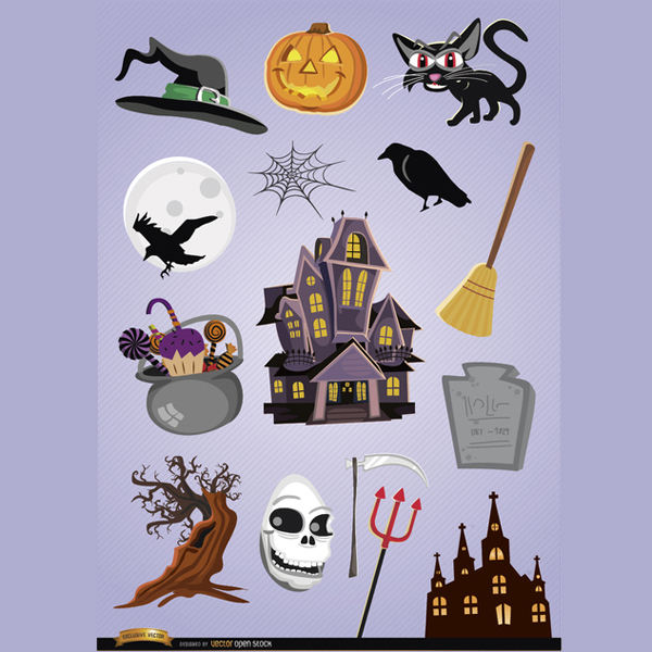 15HorrorHalloweenVectorCartoons
