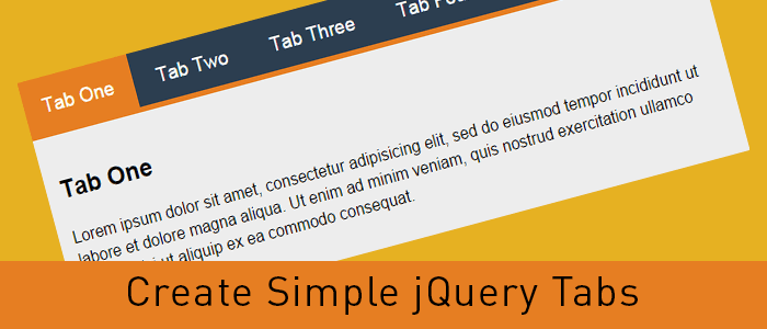 Create Simple jQuery Tabs