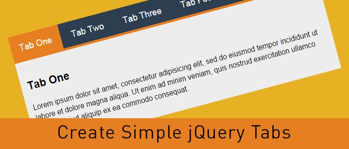 Create Simple jQuery Tabs