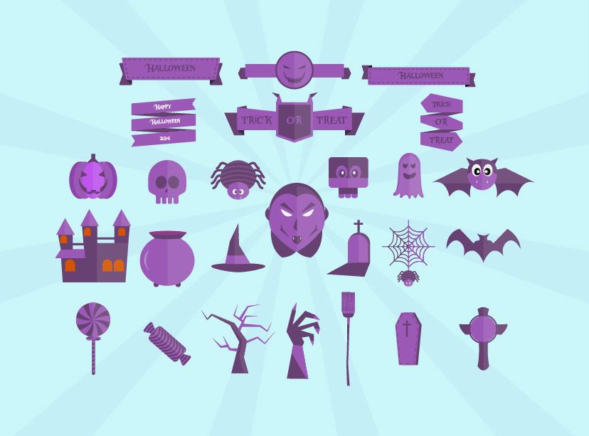 Flat-Halloween-icons