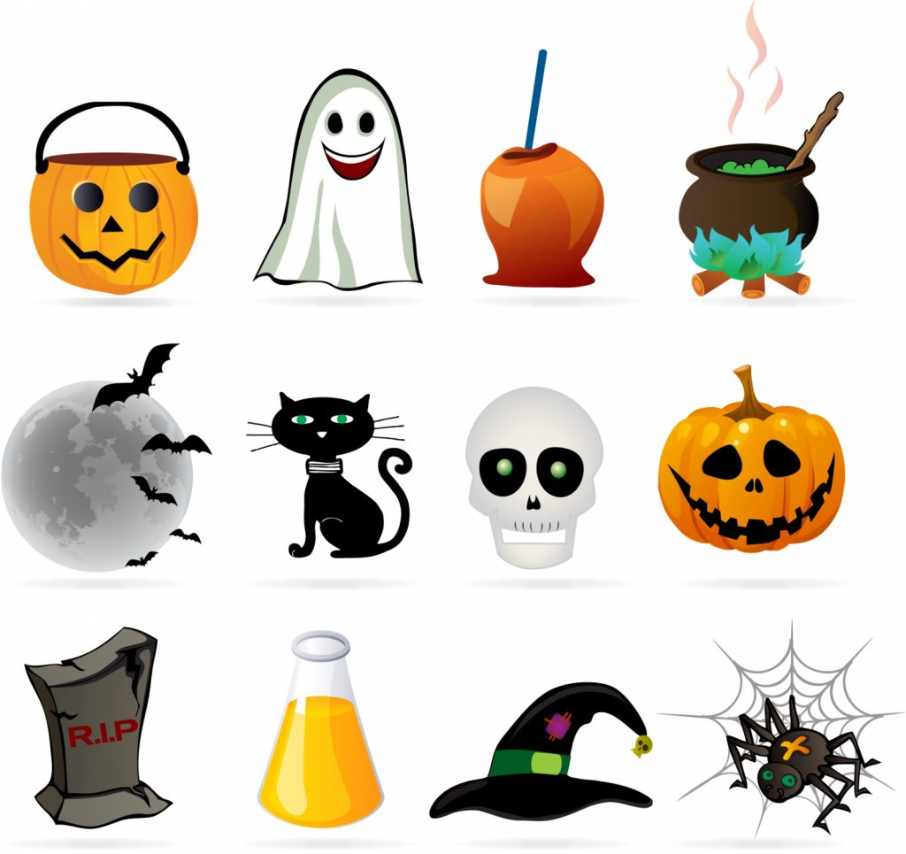 Halloween_design_element_icon_set
