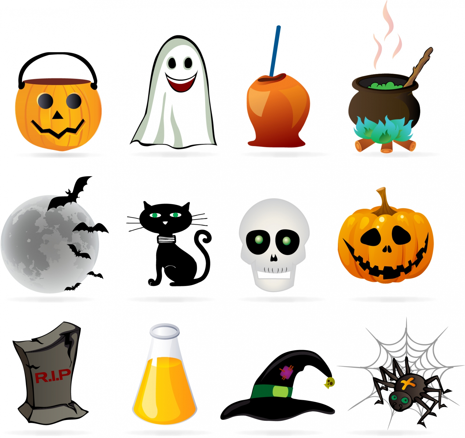 20 free halloween vector graphics to create scary and