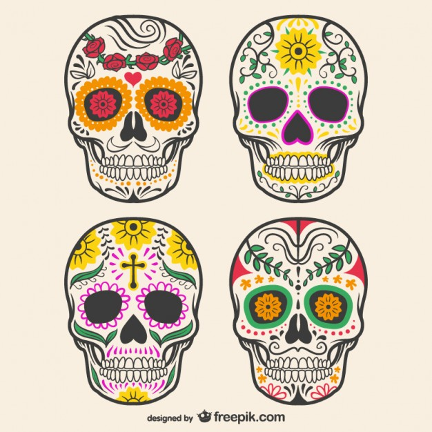 colorful-decorated-skulls_23-2147498900
