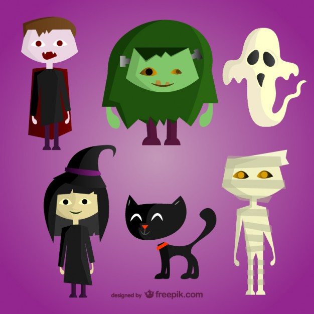 halloween-cartoon-characters-set_23-2147497616