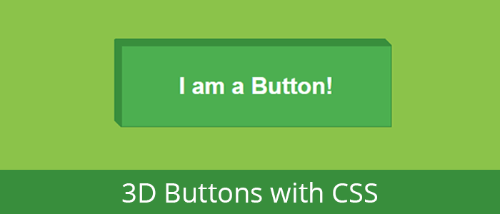 3D Buttons with CSS