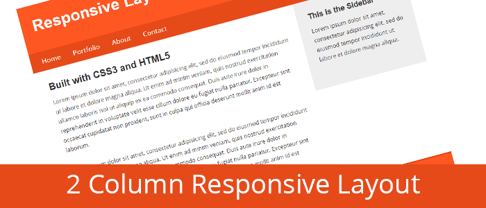 Create a 2 Column Responsive Layout with HTML and CSS From Scratch