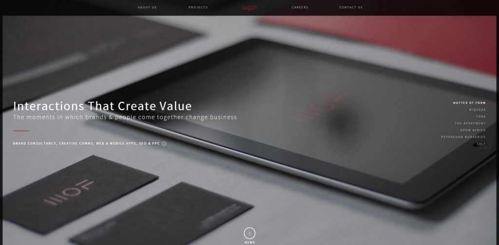 Brand Interaction and eCommerce Agency London Matter Of Form