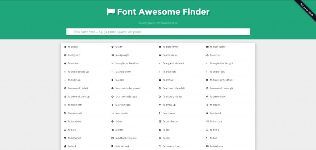 FontAwesome Finder