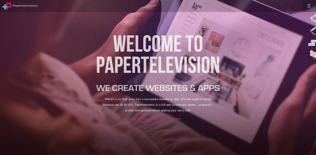 Papertelevision Cincinnati Web Design and Development