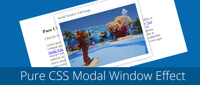pure-css-modal-window-effect