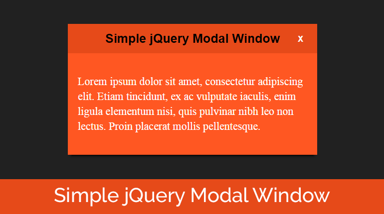 Create a Simple jQuery Modal Window