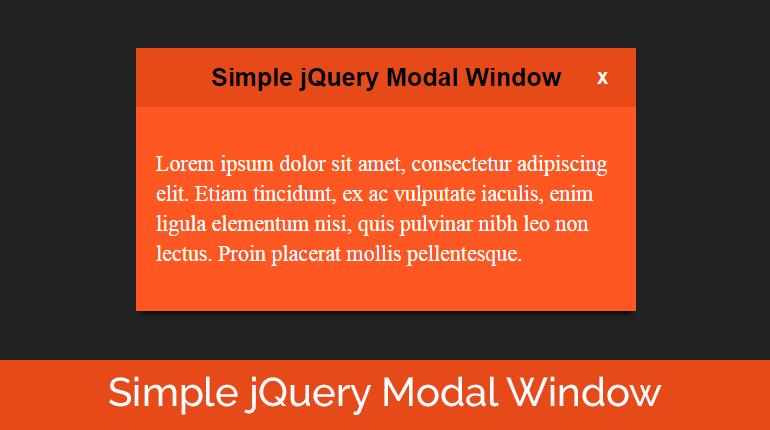 Create a Simple jQuery Modal Window