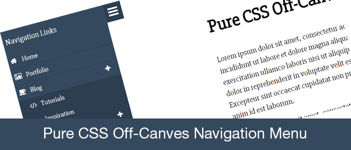 pure-css-off-canves-navigation-menu