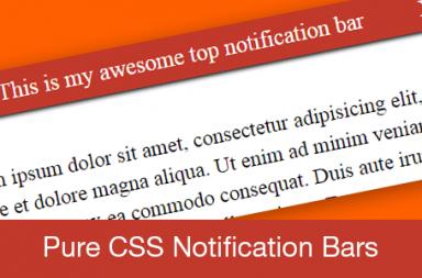 Pure CSS Notification Bars