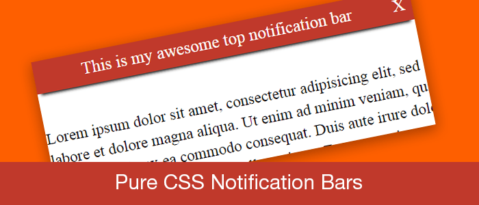 Pure CSS Notification Bars