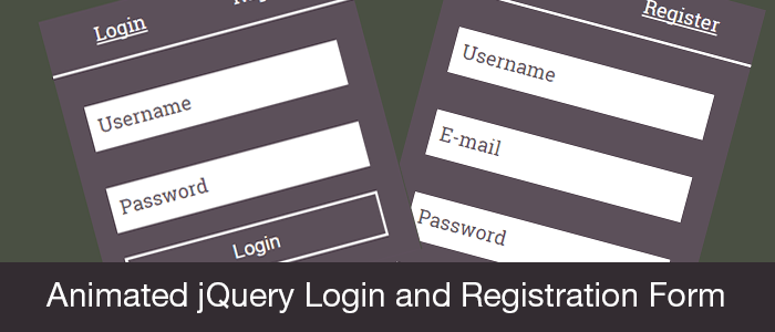 Animated jQuery Login and Registration Form