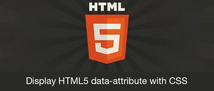Display HTML5 data-attribute with CSS