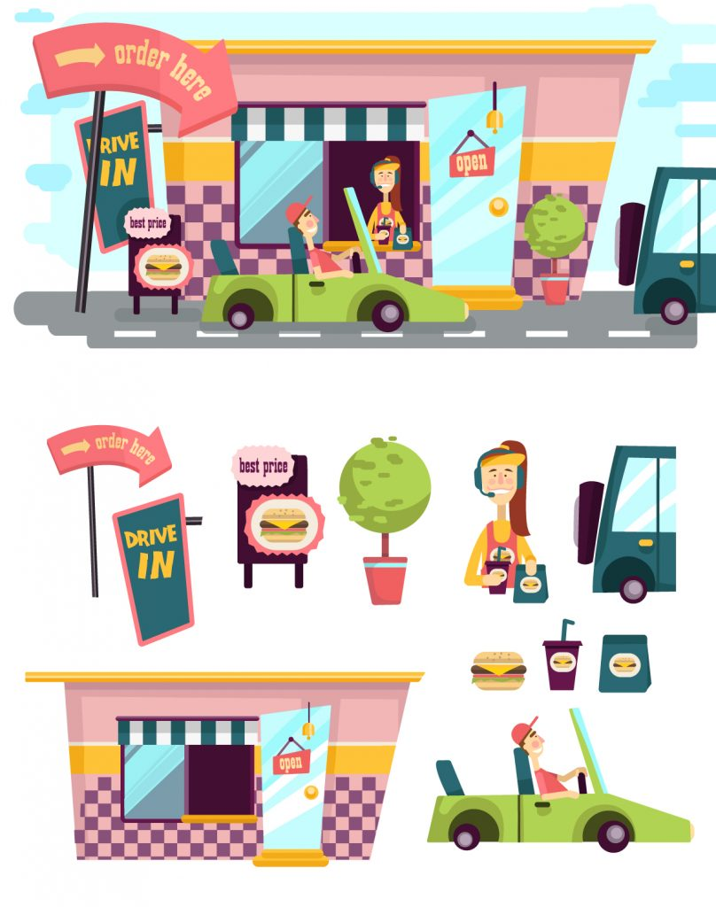 Illustrated flat vector Set