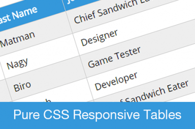 pure css responsive table