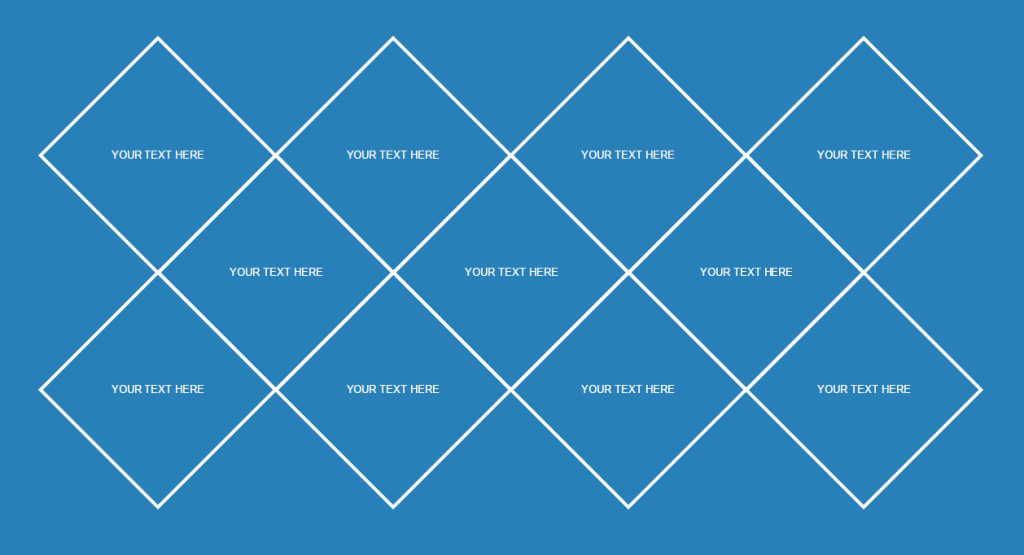 Diamond Grid Syle with CSS and HTML