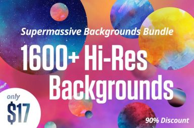 Supermassive 1600+ Hi-Res Backgrounds Bundle - only $17!