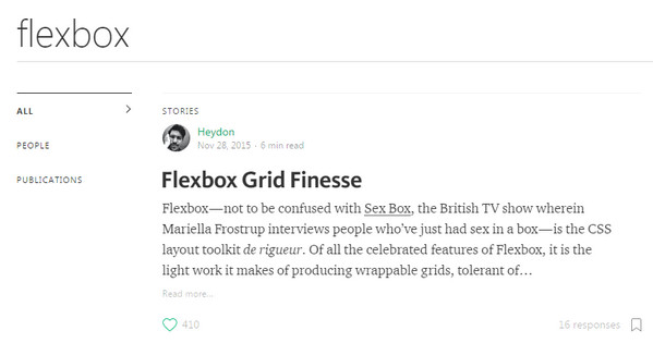 Flexbox in Medium