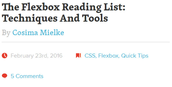 The Flexbox Reading List: Techniques and Tools