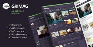 Grimag - Ad Optimized Magazine WordPress Theme
