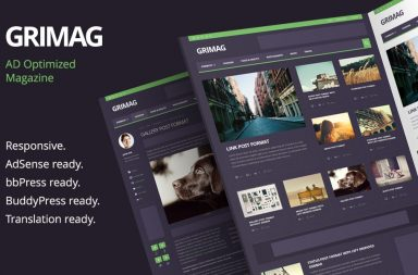 Grimag - Ad Optimized Magazine WordPress Theme