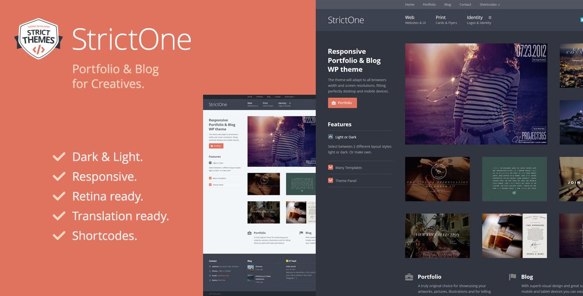 Portfolio & Blog WordPress Theme for Creatives