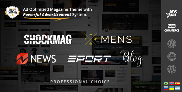 Shockmag - WordPress Theme for Ads