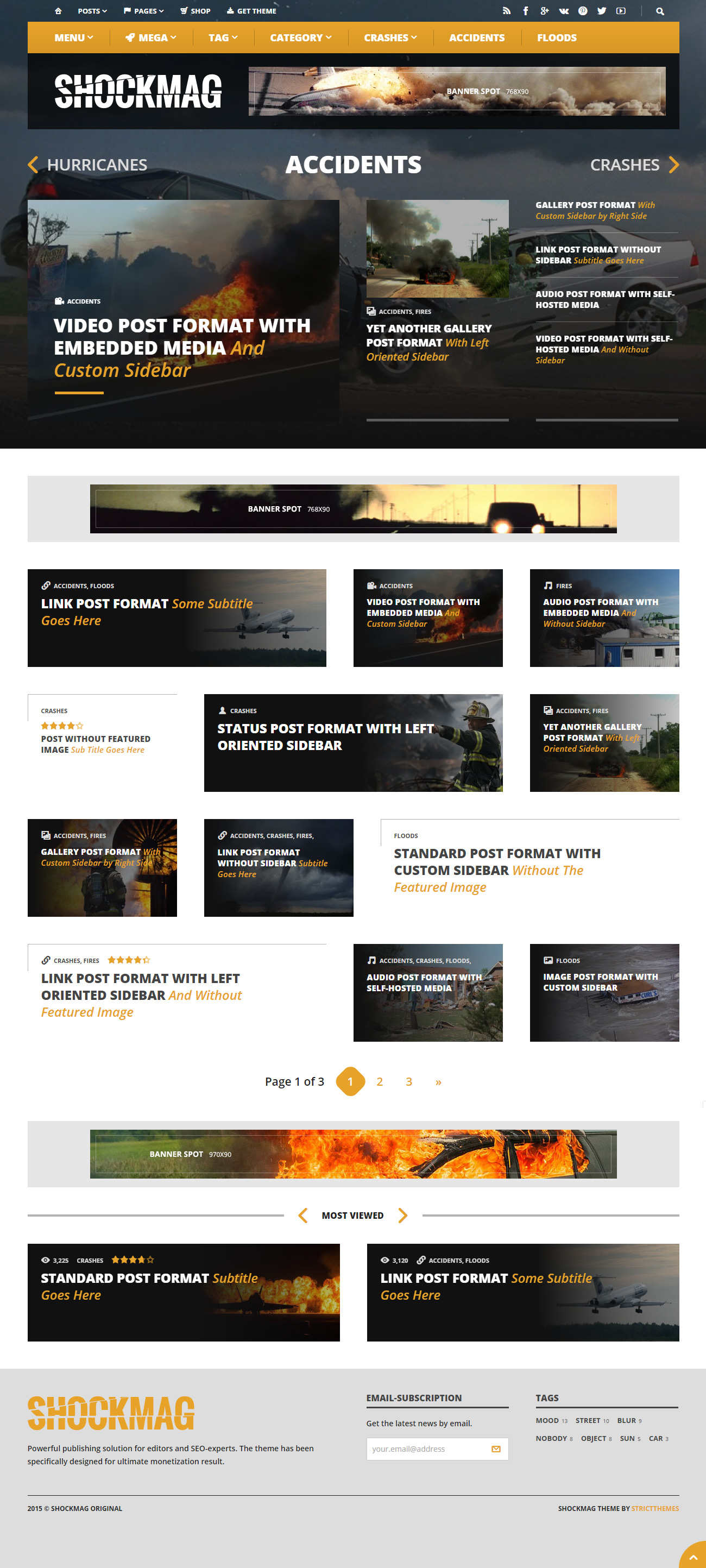 WordPress Theme for Ads