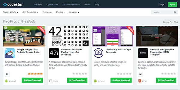 Codester, the Marketplace for Designers and Developers