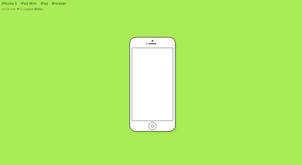 Animated flat iPhone/iPad